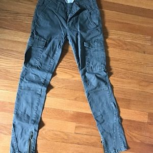 Free People cargo pants with zippers